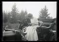 Herman and Maud Bohlman in an auto near Jennings Lodge