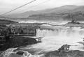 Men fishing at Celilo Falls on the Columbia River