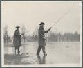 Fishing during a flood on the OSC campus