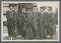 Female students on commencement day. The woman pictured third from right is Ruth Nomura.