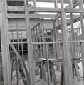Frame of house under construction