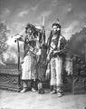 Stokin of the Cascades tribe (on left) and another man in traditional Indian dress