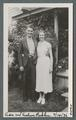 Asa and Evelyn Robley in front of their Corvallis cottage, July 14, 1936