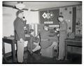 OSC Signal Corps cadets demonstrating instructional equipment