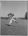 Unidentified Oregon State baseball player throwing the ball
