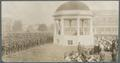 Students' Army Training Corps members assembled near the campus bandstand to hear President Kerr speak