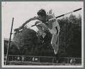 Bob Elliot, high jumper, 1950
