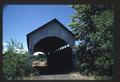 Sequence of slides showing interior and exterior of Antelope Creek Bridge--now abandoned and not in use