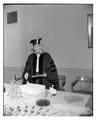 Dean Poling at a party in his honor after receiving his PhD.