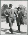 William Jasper Kerr walking across campus with Lincoln Steffins, 1913