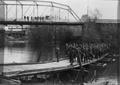 ROTC on bridge at Corvallis, Oregon