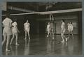 Volleyball game in the Women's gym, 1938