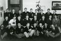 A group of OSC lettermen. Don Coons sits in the middle row, fourth from left.