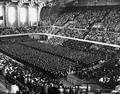 Commencement in Gill Coliseum