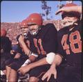 OSU football players on the sideline at the 1965 Rose Bowl game